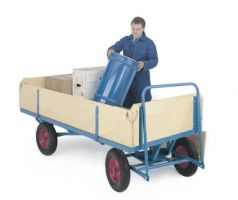 Ackerman Truck C/W Sides/Ends - Plywood - 1000Kg - 2000 X 1000 - Pneumatic