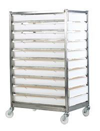 Mobile Tray Racks - C/W Trays  15 Tray  Stainless Steel Models - C/W Trays
