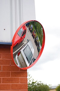 Red 500mm Industrial Safety Mirror