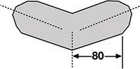 Foam Edge Protector - Trapeze  External Corners