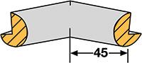 Foam Edge Protector - Semi-Circular  Internal Corners