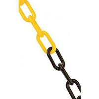 Plastic Chain - 8mm x 25m - Black   Yellow