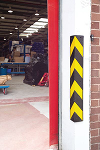 Reflective Rubber Corner Protectors - 100 x 100mm