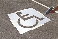 Disabled Parking Bay Stencil
