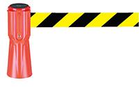 Tensacone Barrier - Black   Yellow