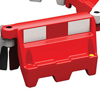 Roadbloc Barrier - Red with Strip
