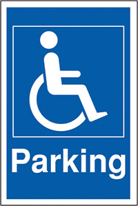 Disabled parking 400x300mm 2mm Polycarbonate Safety Sign