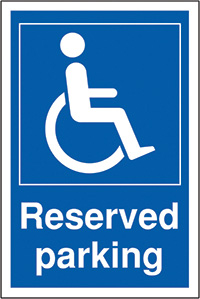 Disabled reserved parking 400x300mm 2mm Polycarbonate Safety Sign