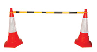 Extending Barrier Cone Pole Black/Yellow