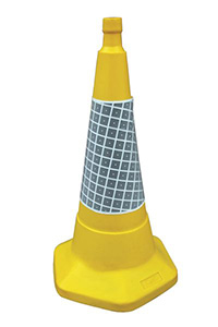 750mm Yellow Sand Weighted Traffic Cone