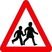 Children Crossing Class 1 Reflective Traffic Sign  Wall  600mm Reflective Safety Sign