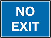 No Exit Class 1 Reflective Traffic Sign  Wall  450x600mm Reflective Safety Sign