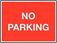 No parking Class 1 Reflective Traffic Sign  Wall  450x600mm Reflective Safety Sign