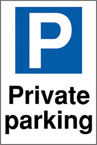 Private parking 400x300mm 2mm Polycarbonate Safety Sign