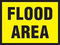 450x600mm Flood Area Stanchion Sign