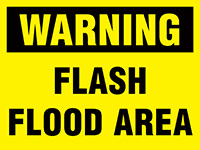Thumbnail 450x600mm Warning Flash Flood Area Stanchion Sign