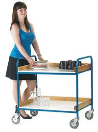 Tray Trolley  2 Melamine Trays