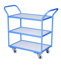 Tray Trolley - 3 Trays  Plastic Removable Trays