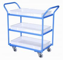 Tray Trolley - 2 Trays  Plastic Removable Trays