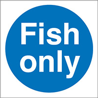 Thumbnail Fish Only  100x100mm Self Adhesive Vinyl Safety Sign