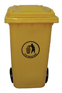 120 Litre Wheeled Bin - Yellow