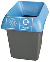 30 Litre Recycling Bin - Blue  Paper Waste
