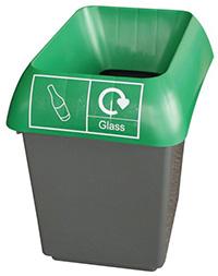 30 Litre Recycling Bin - Green  Glass Waste