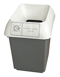 30 Litre Recycling Bin - Grey  Non-recyclable Waste