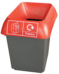 30 Litre Recycling Bin - Red  Plastic Waste