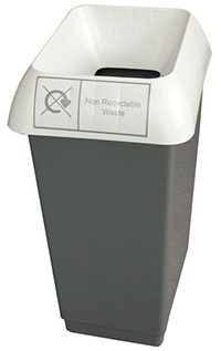 50 Litre Recycling Bin - Grey  Non-recyclable Waste