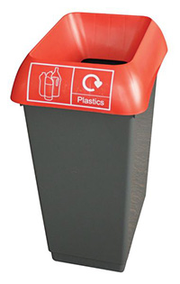 50 Litre Recycling Bin - Red  Plastic Waste