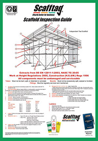 Scafftag Scaffold Inspection Guide Wallchart