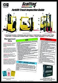 Scafftag Forklift Truck Inspection Guide Wallchart