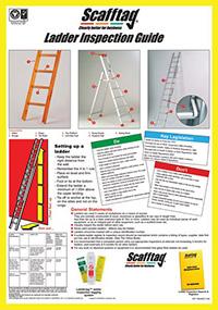 Scafftag Ladder Inspection Guide Wallchart