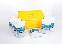 400L Salt   Grit Bin Kit - 16 x 25kg bags of salt and 1 x 40 Litre Grit Bin