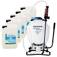Liquid Ice Melt   Knapsack Sprayer Kit  1 x Knapsack Sprayer and 5 x 10 Litre Liquid Ice Melt