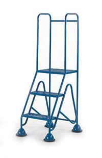 Fort Mobile Domed Feet Steps 3 Step - Mesh Treads - Full Handrail