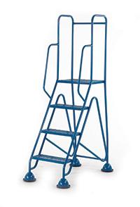 Fort Mobile Domed Feet Steps 4 Step - Mesh Treads - Full Handrail