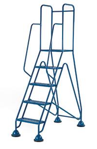 Fort Mobile Domed Feet Steps 5 Step - Mesh Treads - Full Handrail
