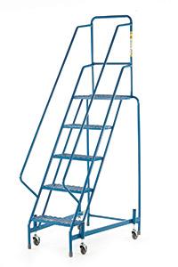 Fort Mobile Steps - Mesh Treads - 5 Step With Full Handrail