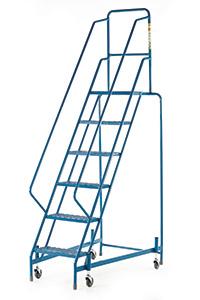 Fort Mobile Steps - Mesh Treads - 6 Step With Full Handrail