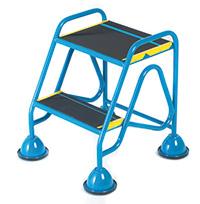 Fort Mobile Domed Feet Steps 2 Step - Anti-Slip Treads - No Handrail