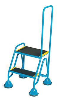 Fort Mobile Domed Feet Steps 2 Step - Anti-Slip Treads - Looped Handrail