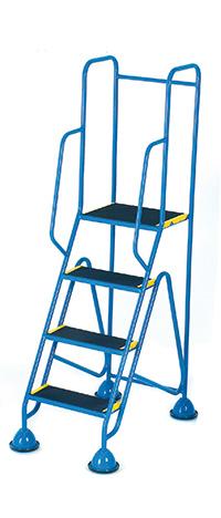 Fort Mobile Domed Feet Steps 4 Step - Anti-Slip Treads - Full Handrail