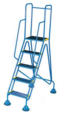 Fort Mobile Domed Feet Steps 5 Step - Anti-Slip Treads - Full Handrail