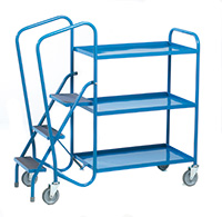 Standard Order Picking Trolley - 3 Steel Trays