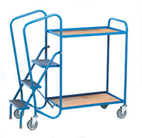 Standard Order Picking Trolley - 2 Plywood Trays