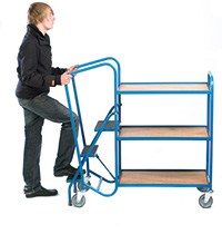 Standard Order Picking Trolley - 3 Plywood Trays