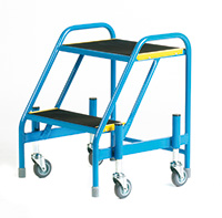 Fort Mobile Steps - Anti-Slip Treads - 2 Step Without Handrail