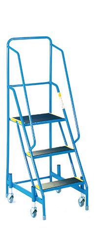 Fort Mobile Steps - Anti-Slip Treads - 3 Step With Full Handrail